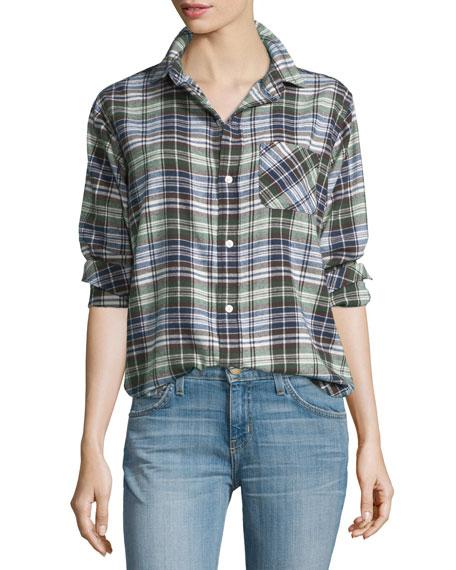 Current/Elliott The Prep School Shirt, Boyfriend Plaid