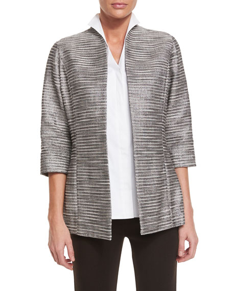 Silver Linings Metallic Jacket, Plus Size