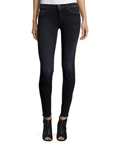 Nico Mid-Rise Super-Skinny Denim Jeans, Black