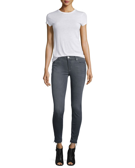Nico Released-Hem Skinny Ankle Jeans, Gray