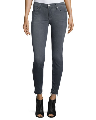 Nico Released-Hem Skinny Ankle Jeans, Gray