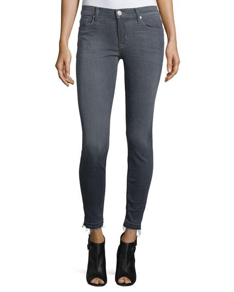 Hudson Nico Released-Hem Skinny Ankle Jeans, Gray