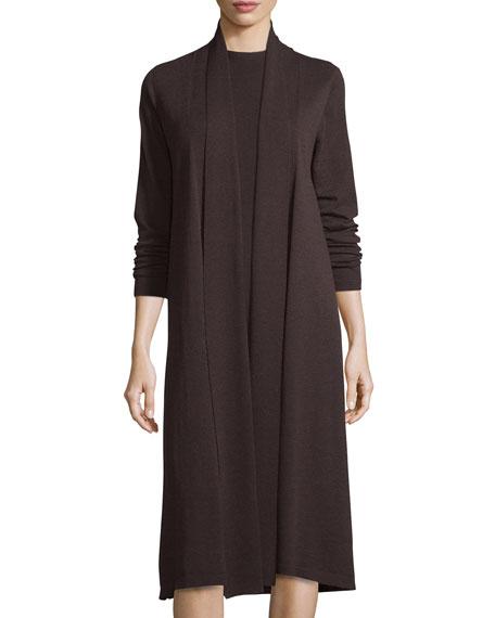 Washable Wool Kimono Duster Cardigan, Plus Size