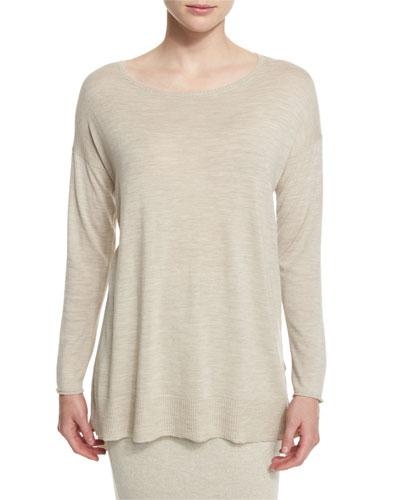 Long-Sleeve Luxe Merino Tunic, Plus Size