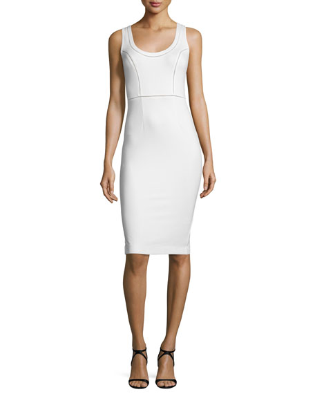 French Connection Lula Sleeveless Sheath Dress, Summer White
