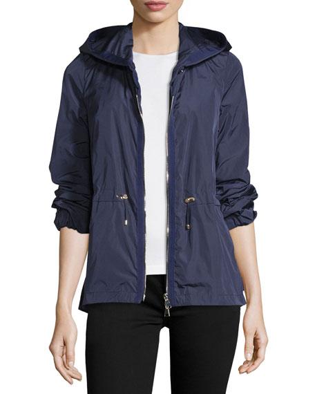 Moncler Jol Nylon Drawstring-Waist Water-Resistant Jacket
