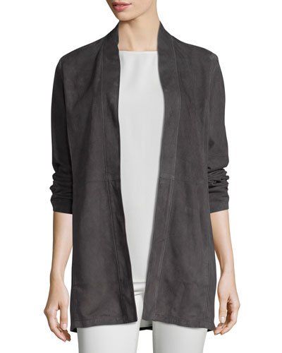 Fisher Project Soft Suede Kimono Jacket, Cinder