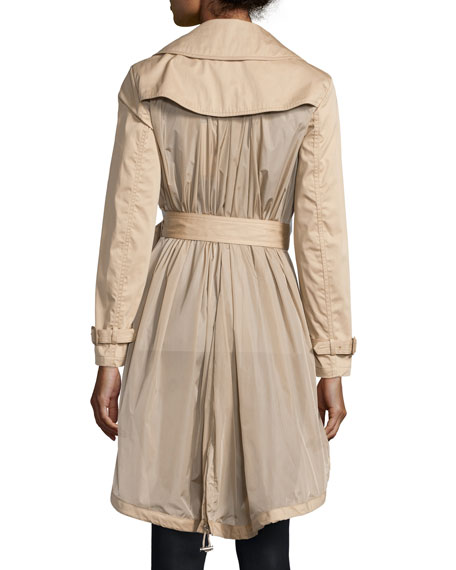 Bavarelle Nylon-Back Trench Coat