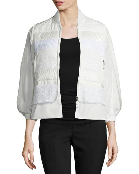 Moncler Genets Textured Puffer Jacket