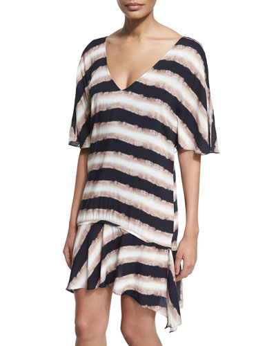 Angel Tie-Dye Drop-Waist Caftan Coverup
