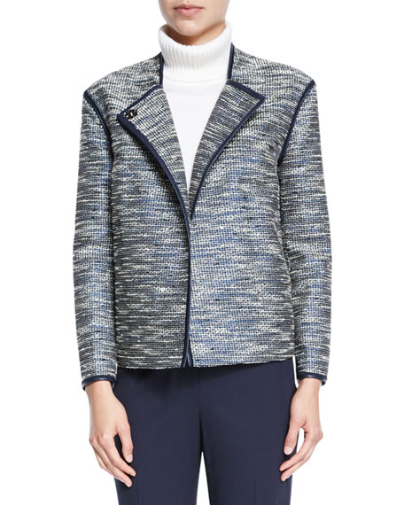 Lafayette 148 New York Dane Collarless Asymmetric Woven