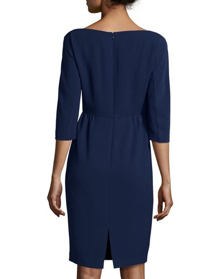Alexia Half-Sleeve Knit Sheath Dress
