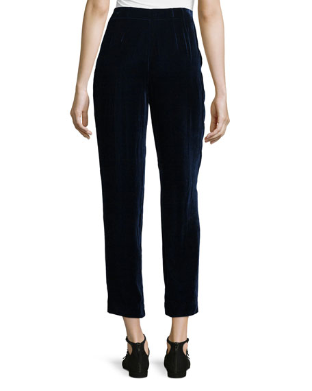 Rivington Velvet Ankle Pants, Galaxy Blue
