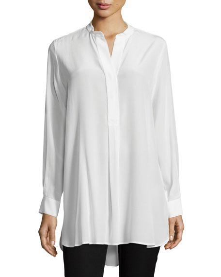 Joseph Dara Long-Sleeve Silk Blouse, Ivory