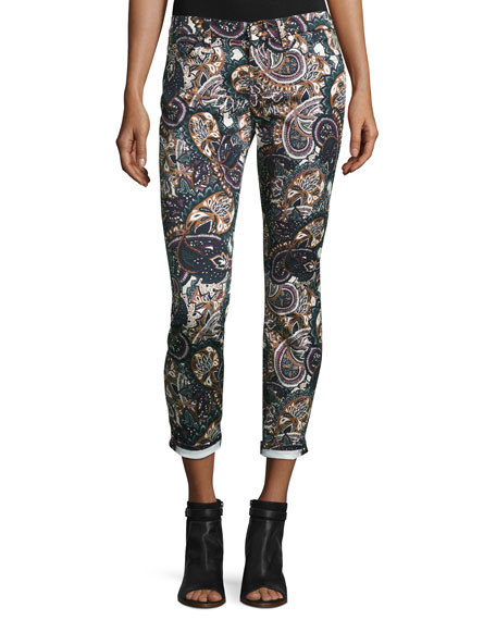7 For All Mankind The Ankle Skinny Printed