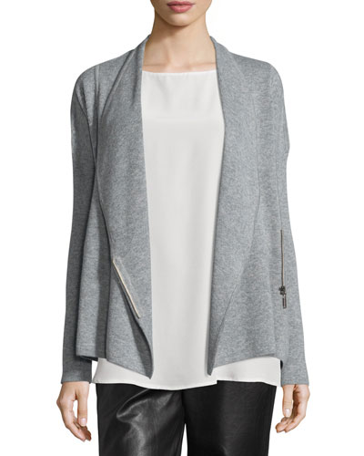 Cashmere Zip-Front Jacket Best Price