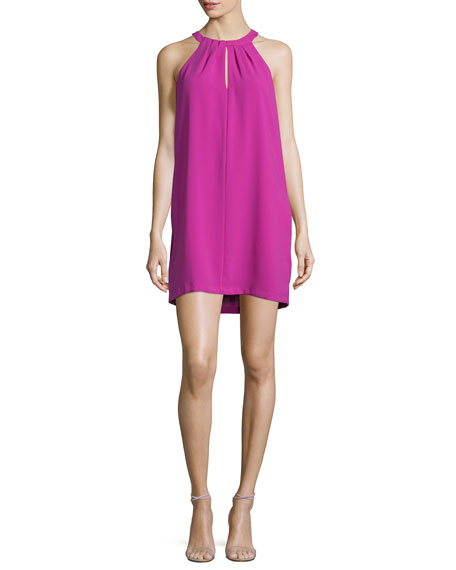 BCBGMAXAZRIA Tristyn Sleeveless Keyhole Dress, Magenta