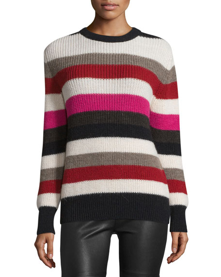 Iro Solal Striped Ribbed Sweater, Multicolor