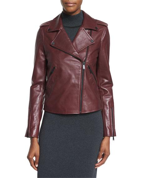 New Leather Moto Jacket w/ Black Hardware