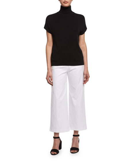 Alex Wide-Leg Crop Pants, White