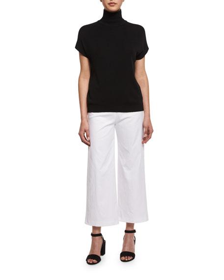 Alex Wide-Leg Crop Pants, White
