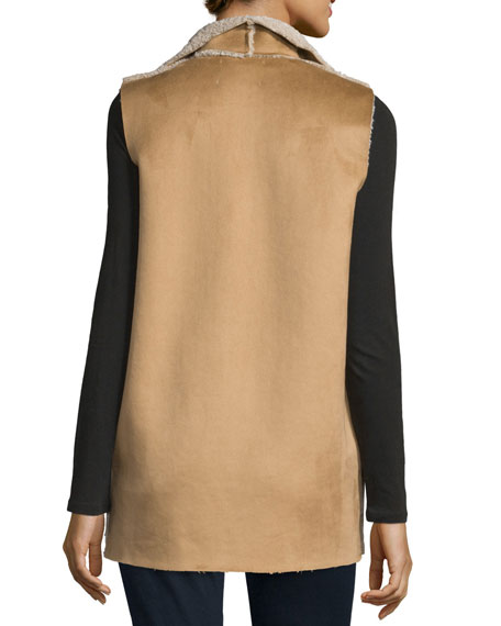 Royce Shawl-Collar Vest, Camel