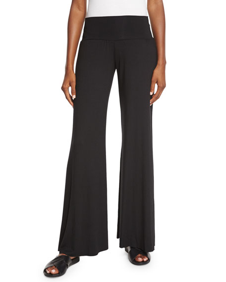 Rachel Pally Wide-Leg Jersey Trousers, Black