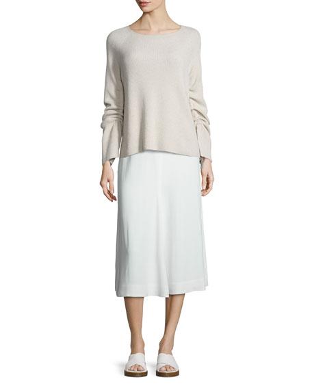 Stretch Crepe Culottes, White