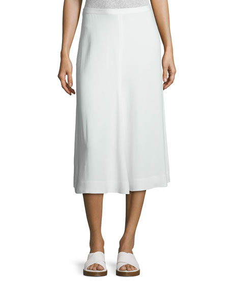 Helmut Lang Stretch Crepe Culottes, White