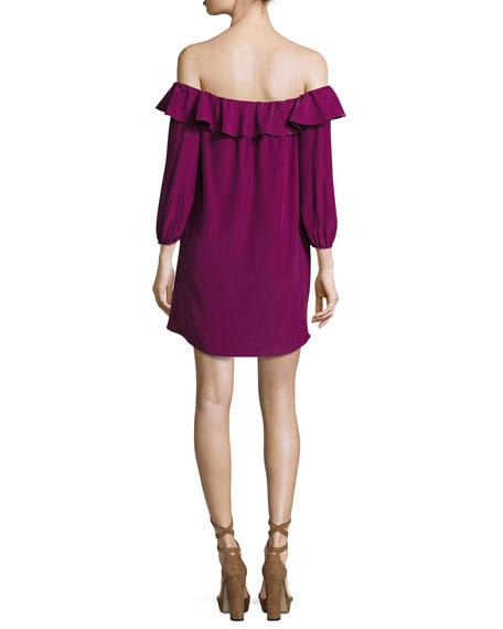 Joanna Off-the-Shoulder Crepe Dress