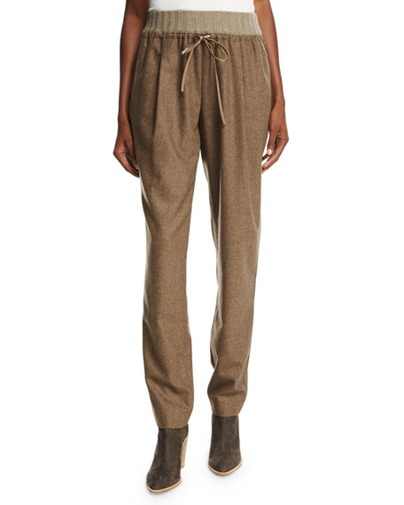 Lafayette 148 New York Barclay Relaxed Wool-Blend Pants,