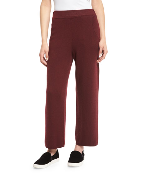 Belford Laila Cropped Sweat Pants, Burgundy