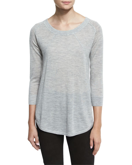 ATM Anthony Thomas Melillo Lightweight Slub-Knit Cashmere