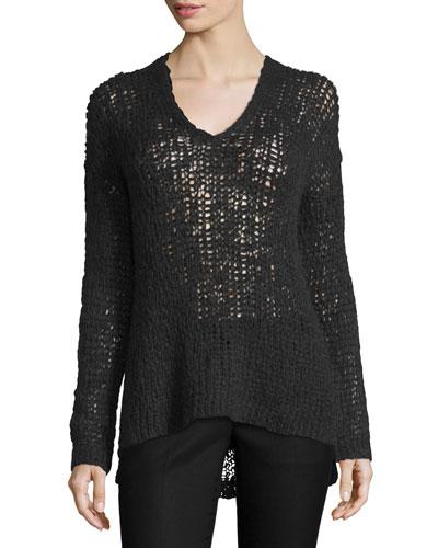 Carlyle Alpaca-Blend Open-Knit Sweater