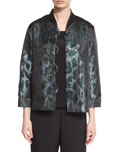 Animal Ice Jacquard Boxy Jacket