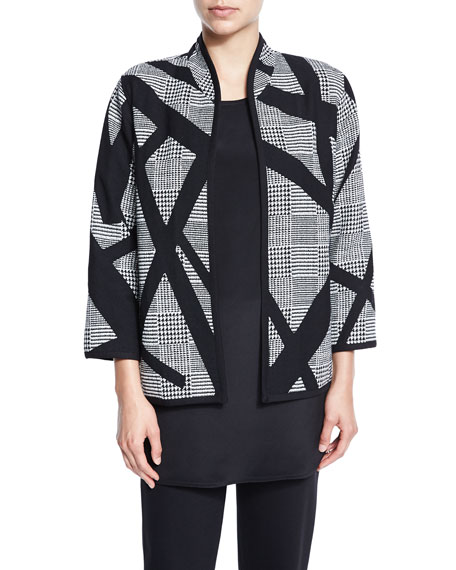 Intersection Houndstooth Boxy Jacket, Plus Size