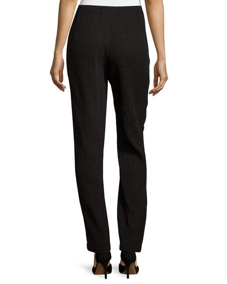 Mini-Pleated Knit Pants, Black, Plus Size