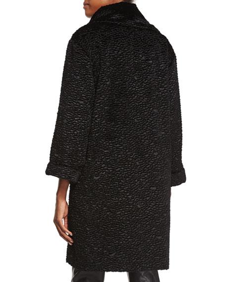 Playful Persian Faux-Fur Coat, Plus Size