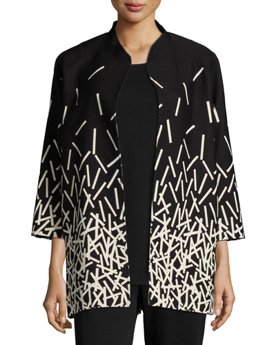 Pick Up Sticks Printed Jacket