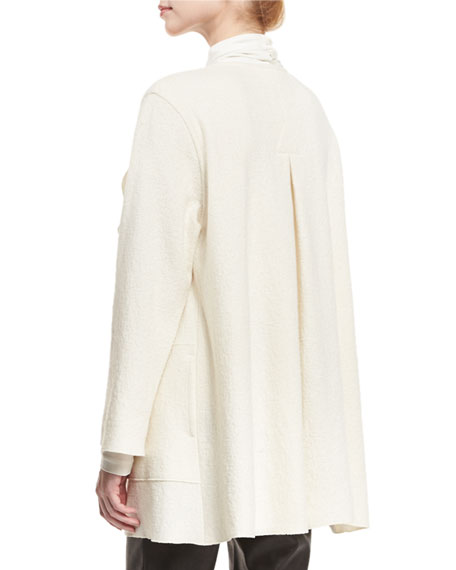 Paris Plush Topper Jacket, Winter White