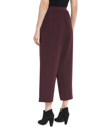 Cropped Overlap Pants, Port