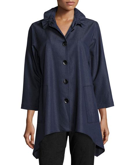 Caroline Rose Essential Denim Shirt & Sueded Pants,