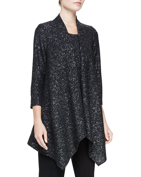 Caroline Rose Starry Night Knit Cascade Jacket, Petite