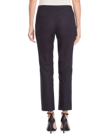 Petite The Perfect Front-Zip Ankle Pants Onyx