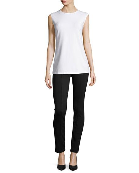 Perfect Ponte Slim Pants, Black Onyx, Plus Size
