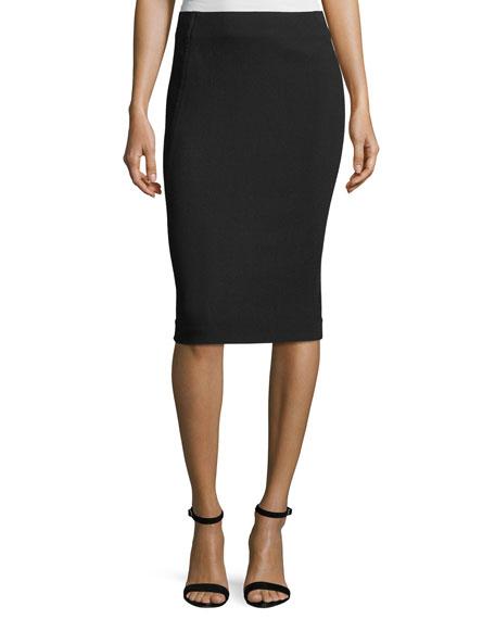 Donna Karan Stretch High-Waisted Pencil Skirt, Black
