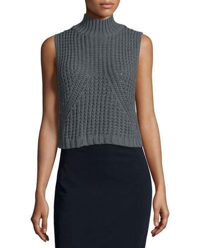 Sleeveless Mock-Neck Tabard