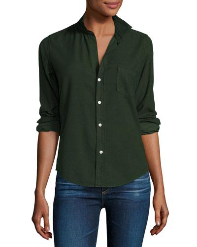 Barry Cotton Oxford Shirt, Emerald Green