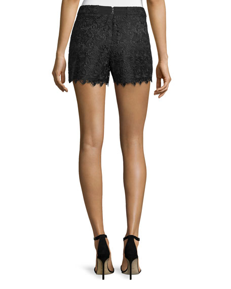 Amaris High-Waist Lace Shorts