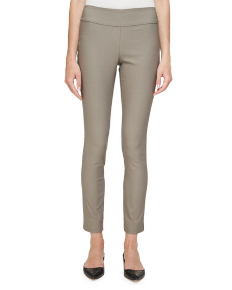 NIC+ZOE Slim Wonderstretch Pants, Mushroom